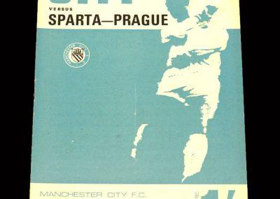 Man City v Sparta Prague 11.12.1967 (Friendly)