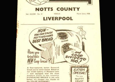 Notts County v Liverpool 22.03.1958