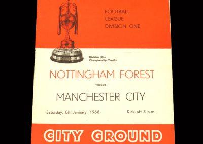 Man City v Notts Forest 06.01.1968