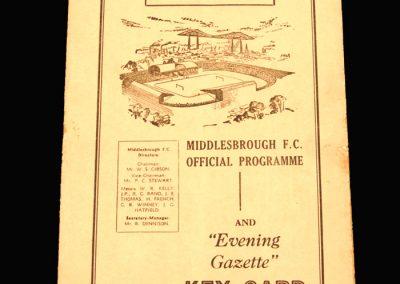 Notts County v Middlesbrough 29.03.1958