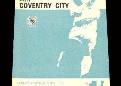 Man City v Coventry 13.01.1968 (postponed)
