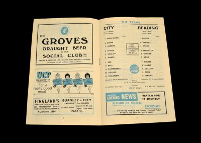 Man City v Reading 27.01.1968 - FA Cup 3rd Round