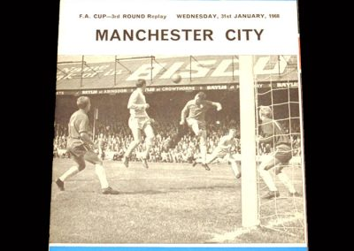 Man City v Reading 31.01.1968 - FA Cup 3rd Round Replay