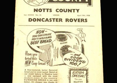 Notts County v Doncaster 19.04.1958