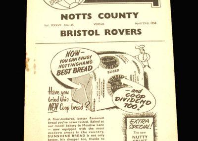 Notts County v Bristol Rovers 23.04.1958