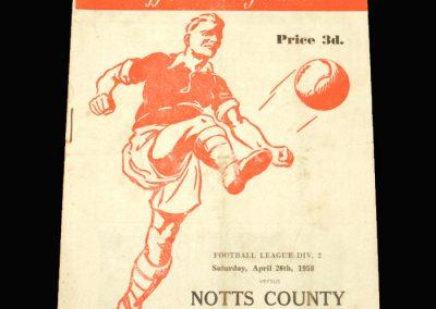 Notts County v Rotherham 26.04.1958