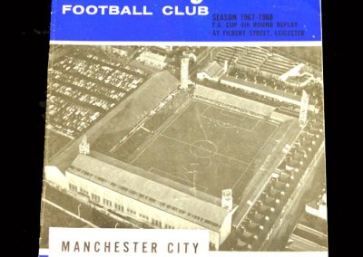 Man City v Leicester 19.02.1968 - FA Cup 4th Round Replay