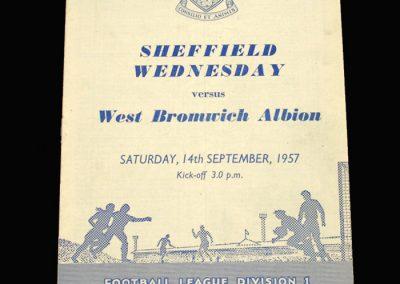 West Brom v Sheff Wed 14.09.1957