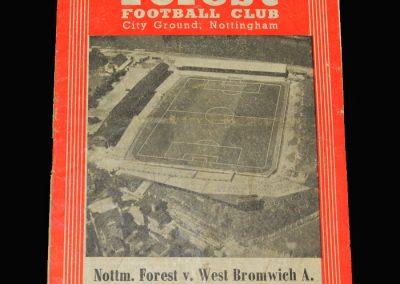 West Brom v Notts Forest 28.09.1957