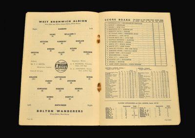 West Brom v Bolton 12.10.1957