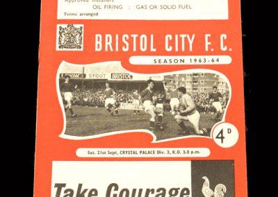Crystal Palace v Bristol City 21.09.1963