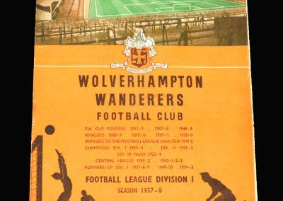 West Brom v Wolves 16.11.1957