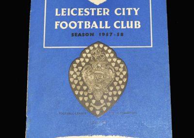 West Brom v Leicester 30.11.1957