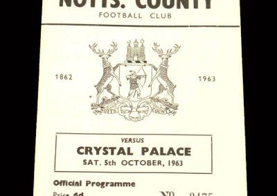 Crystal Palace v Notts County 05.10.1963