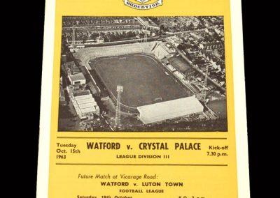 Crystal Palace v Watford 15.10.1963