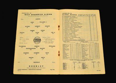 West Brom v Burnley 28.12.1957