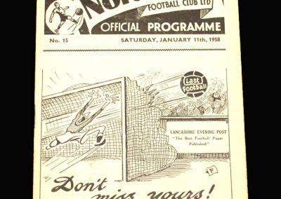 West Brom v Preston 11.01.1958