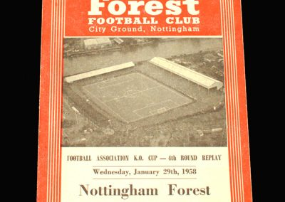 West Brom v Notts Forest 29.01.1958 FA Cup 4th Round Replay