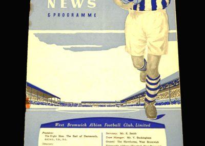 West Brom v Notts Forest 08.02.1958