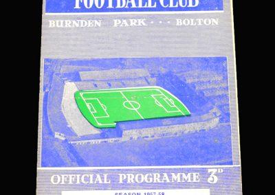 West Brom v Bolton 22.02.1958