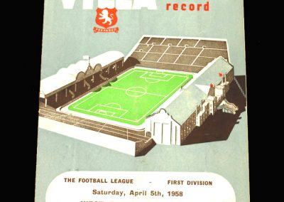 West Brom v Aston Villa 05.04.1958