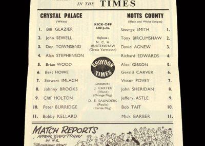 Crystal Palace v Notts County 15.02.1964