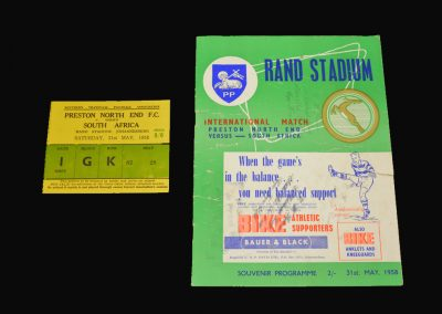 Preston v South Africa 31.05.1958 (with ticket)