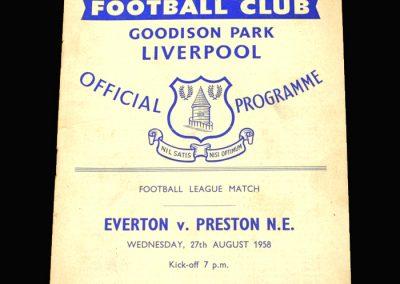Preston v Everton 27.08.1958