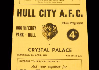Crystal Palace v Hull 04.04.1964