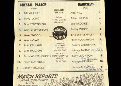 Crystal Palace v Barnsley 11.04.1964