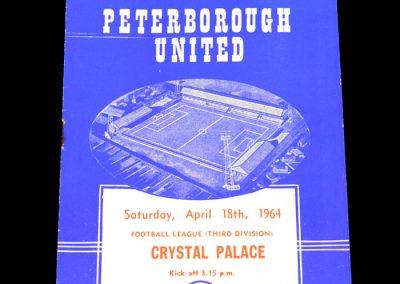 Crystal Palace v Peterborough 18.04.1964