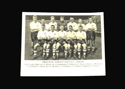 Preston Team Photo 1958-59