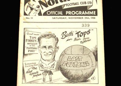 Preston v West Ham 29.11.1958