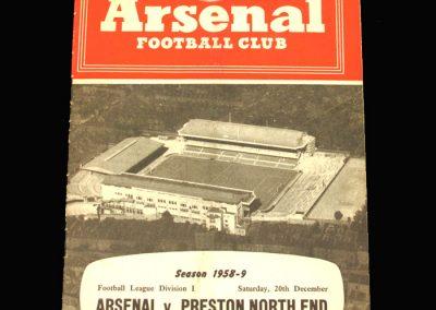 Preston v Arsenal 20.12.1958