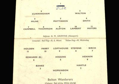 Preston v Bolton 18.02.1959 FA Cup 5th Round Replay