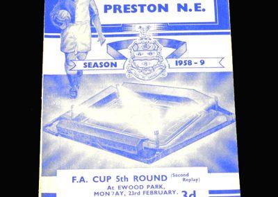 Preston v Bolton 23.02.1959 FA Cup 5th Round 2nd Replay