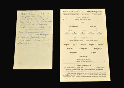 Preston v Notts Forest 16.03.1959