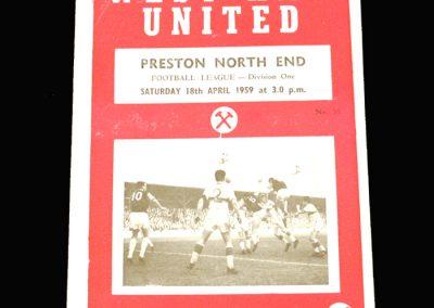 Preston v West Ham 18.04.1959