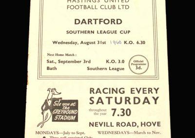 Hastings v Dartford 31.08.1960