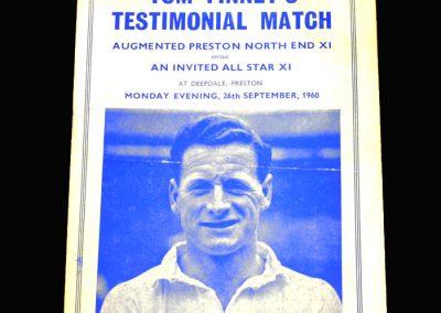 Tom Finney Testimonial 26.09.1960