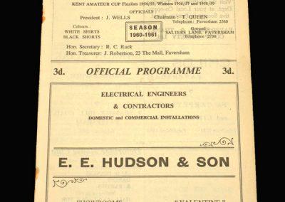 Faversham v Deal 15.10.1960