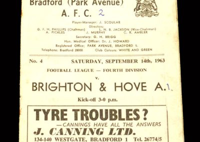 Bradford PA v Brighton 14.09.1963