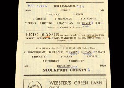 Bradford PA v Stockport 17.09.1963