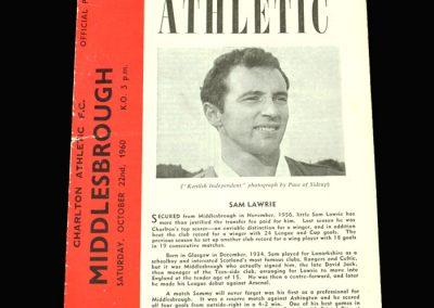 Charlton v Middlesbrough 22.10.1960