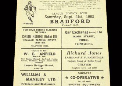 Bradford PA v Chester 21.09.1963