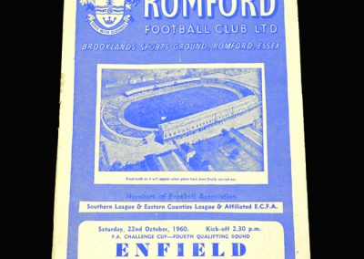 Romford v Enfield 22.10.1960 FA Cup 4th Qualifying Round