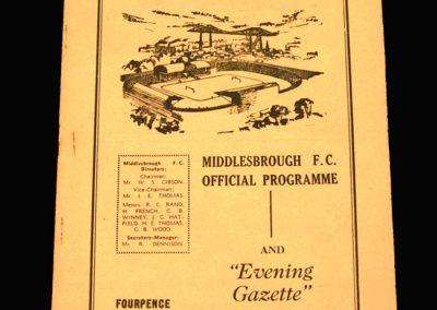 Middlesbrough v Sheffield Utd 29.10.1960