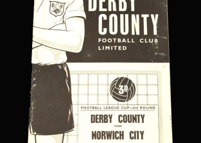 Derby v Norwich 14.11.1960 League Cup 3rd Round