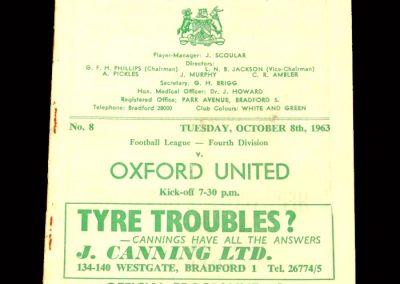 Bradford PA v Oxford 08.10.1963