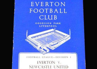 Everton v Newcastle 19.11.1960